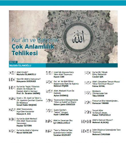 Kur'ani Hayat Dergisi/ Ahlakın ve Adaletin Kaynağı Allah/ Mart-Nisan 2