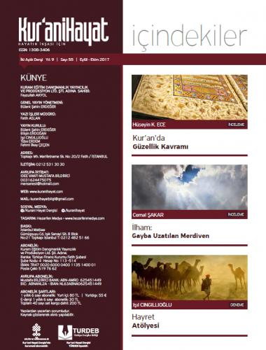 Kur'ani Hayat Dergisi/Kur'an ve Sanat Vahiy Estetiği/ Eylül-Ekim 2017