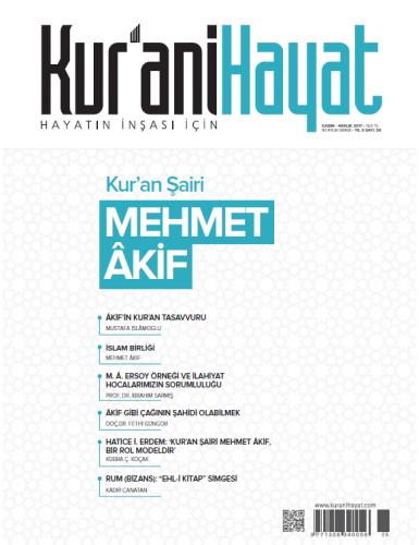 Kur'ani Hayat Dergisi/Kur'an Şairi MEHMET ÂKİF/ Kasım-Aralık 2017 56.Sayı