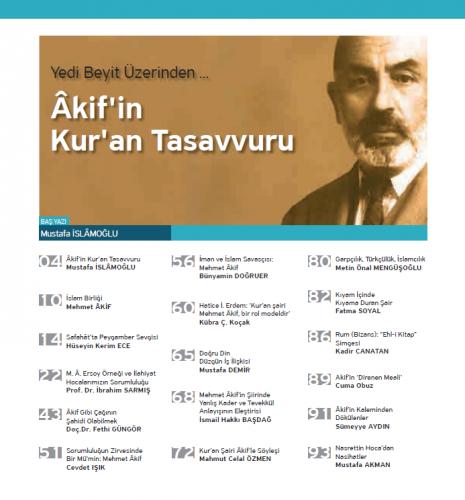 Kur'ani Hayat Dergisi/Kur'an Şairi MEHMET ÂKİF/ Kasım-Aralık 2017 56.S