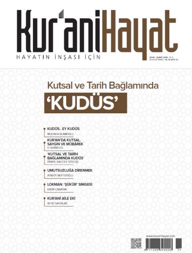 Kur'ani Hayat Dergisi/Kutsal ve Tarih Bağlamında 'KUDÜS'/Ocak-Şubat 20