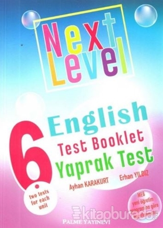 6.Sınıf Next Level English Test Booklet Yaprak Test 2020