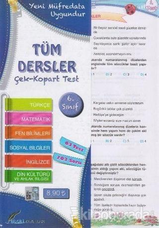 6. Sınıf Tüm Dersler Çek Kopart Yaprak Test