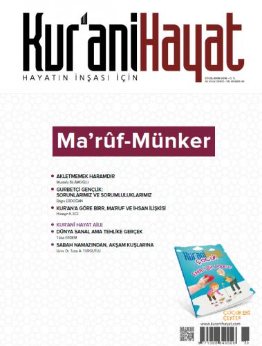 Kur'ani Hayat Dergisi/Ma'rûf-Münker/Eylül-Ekim 2018 61.Sayı ve Çocuk Eki