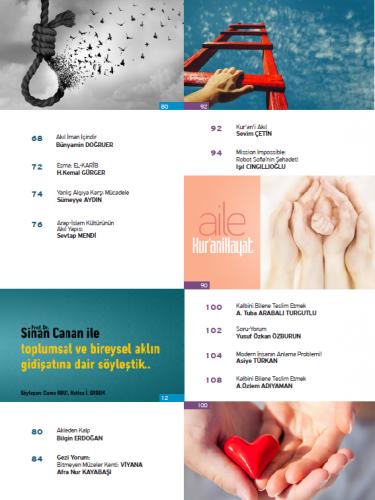 Kur'ani Hayat Dergisi/Akıldan Kopuş/Temmuz-Ağustos 2019 66.Sayı ve Çoc