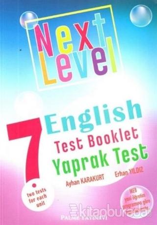 7. Sınıf Next Level English Test Booklet Yaprak Test 2020