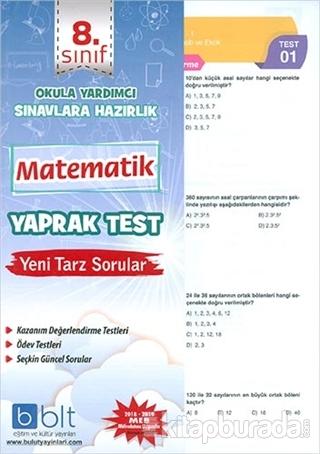 8. Sınıf Matematik Yaprak Test