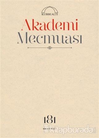 Akademi Mecmuası Sayı: 181 Ocak 2017