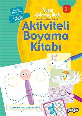 Aktiviteli Boyama Kitabı - Hayvanat Bahçesi