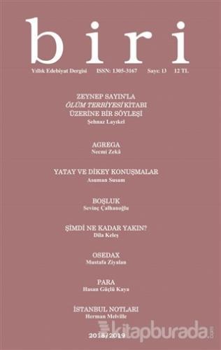 Biri Yıllık Edebiyat Dergisi Sayı: 13