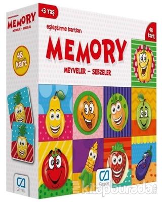 CA Games Meyveler - Sebzeler - Memory Eşleştirme Kartları
