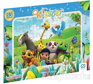 CA Games Wissper - Frame Puzzle 2 - Mavi (35 Parça)