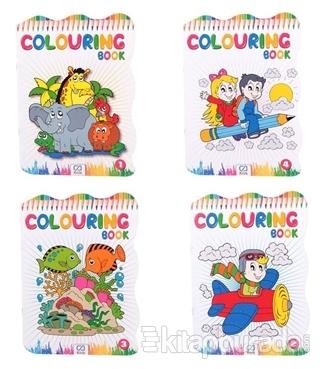 Colouring Book - 4 Kitap (Asorti 40'lı Paket) İadesizdir