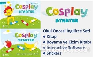 Cosplay Starter Okul Öncesi İngilizce Eğitim Seti (Kitap + Boyama ve Çizim Kitabı + Stickers + Interactive Software)