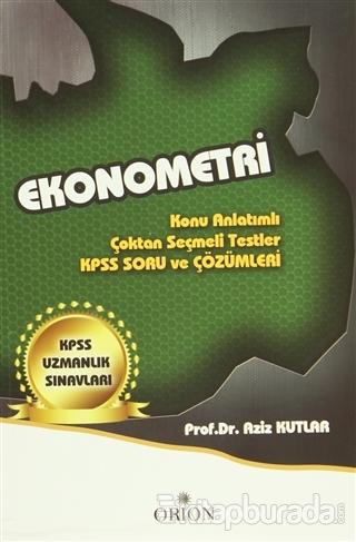Ekonometri (KPSS Uzmanlık Sınavları)