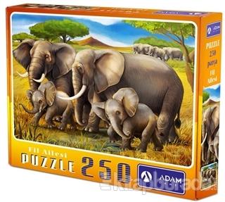 Fil Ailesi 250 Parça Puzzle