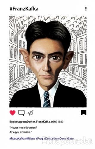 Franz Kafka (Karikatür) - Bookstagram Defter