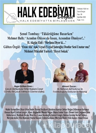 Halk Edebiyatı Dergisi Sayı: 38 Eylül-Ekim 2020