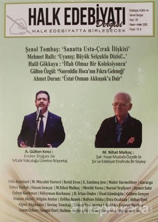 Halk Edebiyatı Dergisi Sayı: 39 Kasım-Aralık 2020