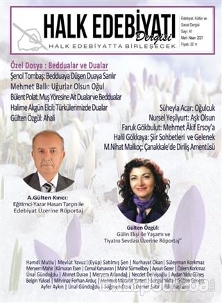 Halk Edebiyatı Dergisi Sayı: 41 Mart-Nisan 2021