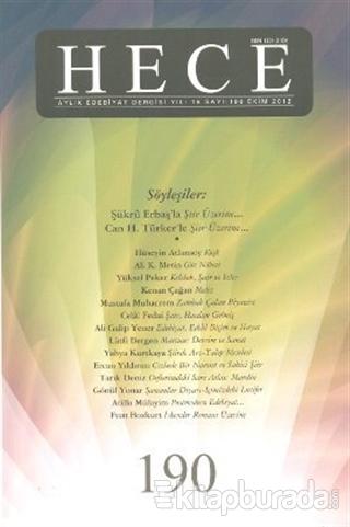 Hece Aylık Edebiyat Dergisi Sayı: 190