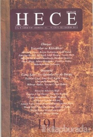 Hece Aylık Edebiyat Dergisi Sayı: 191