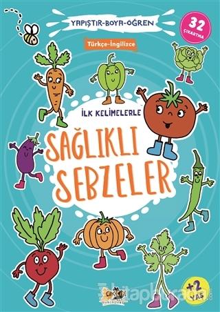 İlk Kelimelerle Sağlıklı Sebzeler - Yapıştır-Boya-Öğren