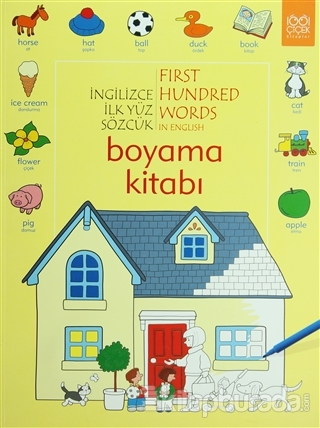 İngilizce İlk Yüz Sözcük - First Hundred Words in English Boyama Kitabı