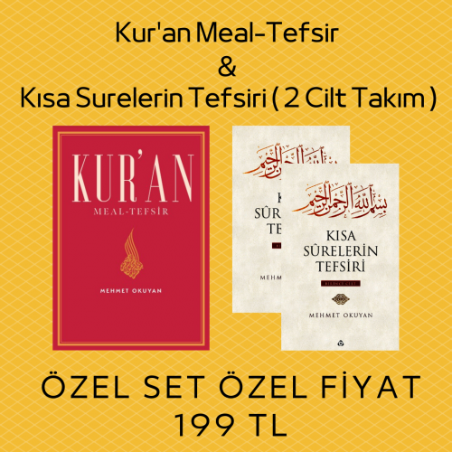 Mehmet Okuyan Meal ve Tefsir Seti ( Kur'an Meali ve Kısa Surelerin Tefsiri)