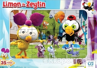 Limon ile Zeytin - Frame Puzzle 35 (Asorti 12'li Paket) İadesizdir