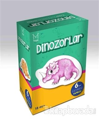 Mikado Dinozorlar (6 Adet 2 ve 3 Parçalı Yapboz)