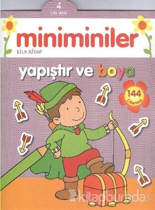 Miniminiler : Lila Kitap Yapıştır ve Boya