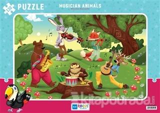 Müzisyen Hayvanlar - 130 Parça Puzzle (BF174)