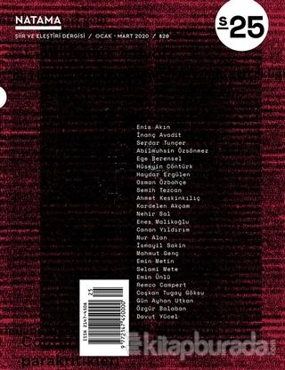 Natama Şiir ve Eleştiri Dergisi Sayı: 25 Ocak - Mart 2020