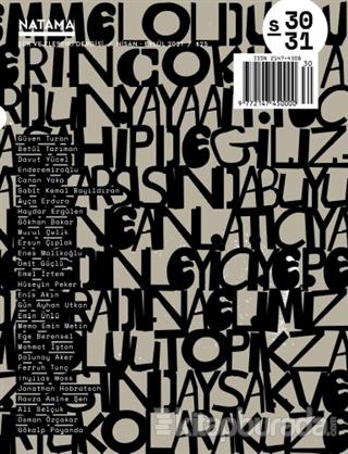 Natama Şiir ve Eleştiri Dergisi Sayı: 30-31 Nisan-Eylül 2021