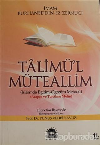 Talimü'l Müteallim Yunus Vehbi Yavuz