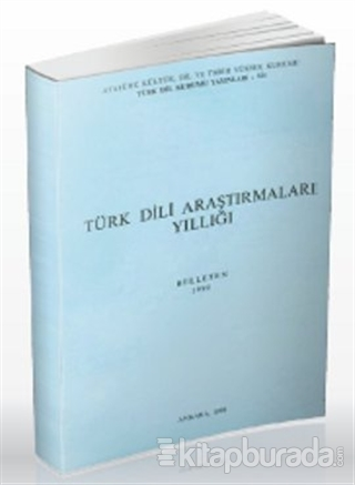 Türk Dili Araştırmaları Yıllığı - Belleten 1990