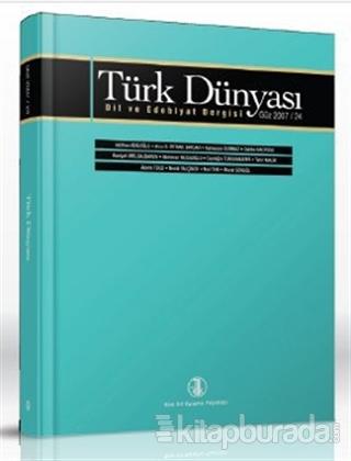 Türk Dünyası Dil ve Edebiyat Dergisi Sayı: 24