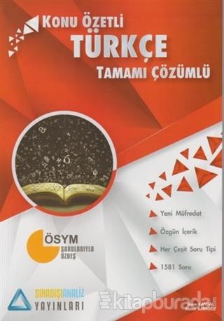Türkçe Konu Özetli Tamamı Çözümlü Soru Bankası