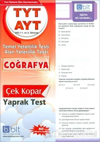 TYT AYT Coğrafya Yaprak Test