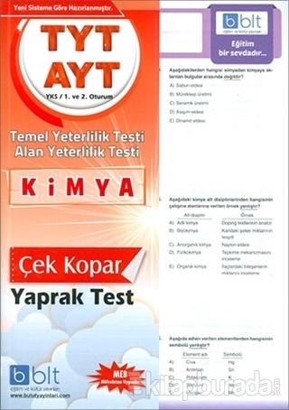 TYT AYT Kimya Yaprak Test