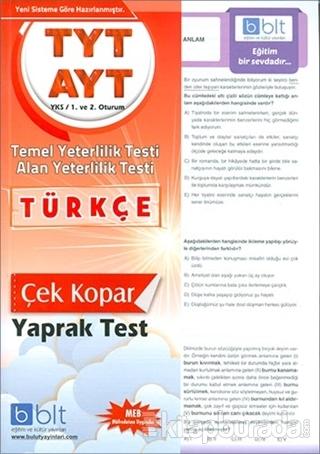 TYT AYT Türkçe Yaprak Test