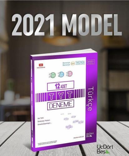ÜçDörtBeş Yayınları 2021 Model TYT Türkçe 12 li Deneme