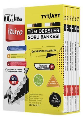 TYT AYT Tüm Dersler Eşit Ağırlık TM Soru Bankası Soru Kalesi Yayınları