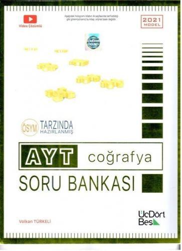 ÜçDörtBeş Yayınları AYT Coğrafya Soru Bankası