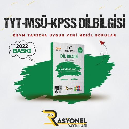 Rasyonel Yayınları TYT MSÜ KPSS ALES Dil Bilgisi Soru Bankası