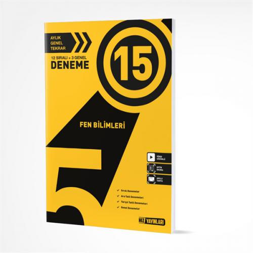 Hız Yayınları 5. SINIF FEN BİLİMLERİ 15Lİ DENEME