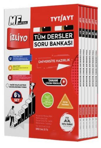 TYT AYT Tüm Dersler Sayısal MF Soru Bankası Soru Kalesi Yayınları