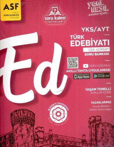 Soru Kalesi Yayınları AYT Türk Edebiyatı Çek Kopart Akıllı Soru Bankas