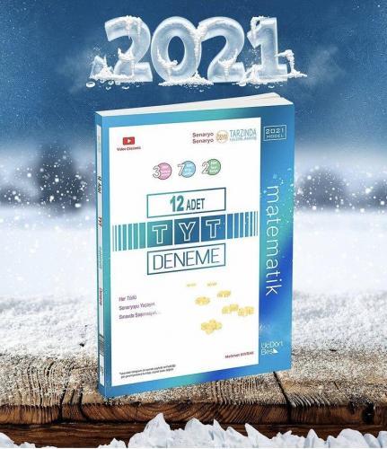ÜçDörtBeş TYT Matematik 12li Deneme 2021 YENİ BASIM